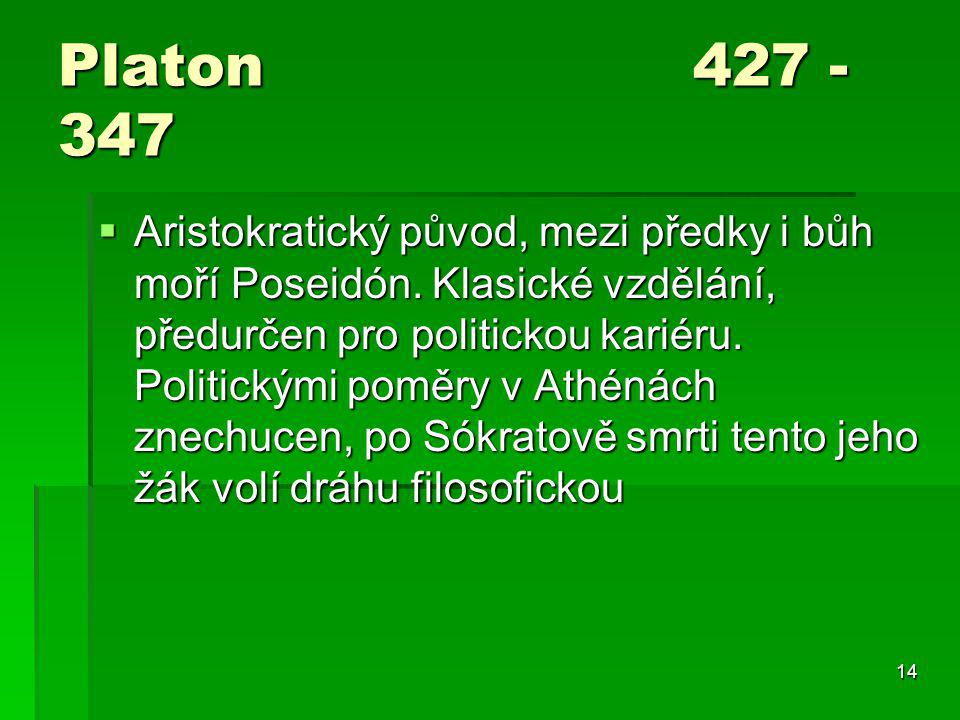 Platon 427 - 347