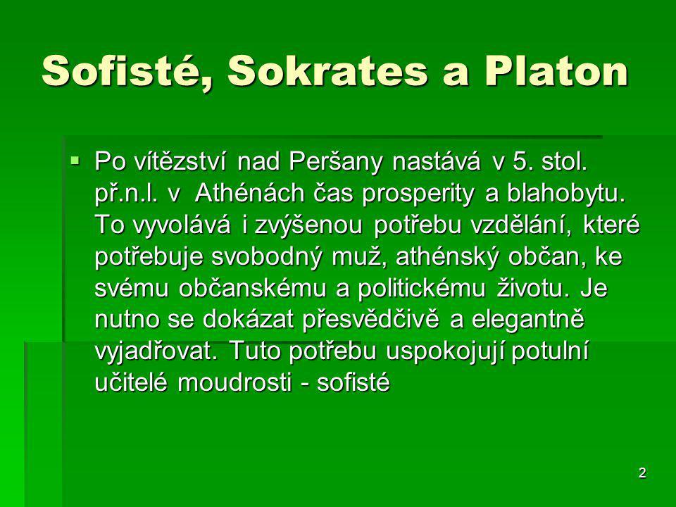 Sofisté, Sokrates a Platon