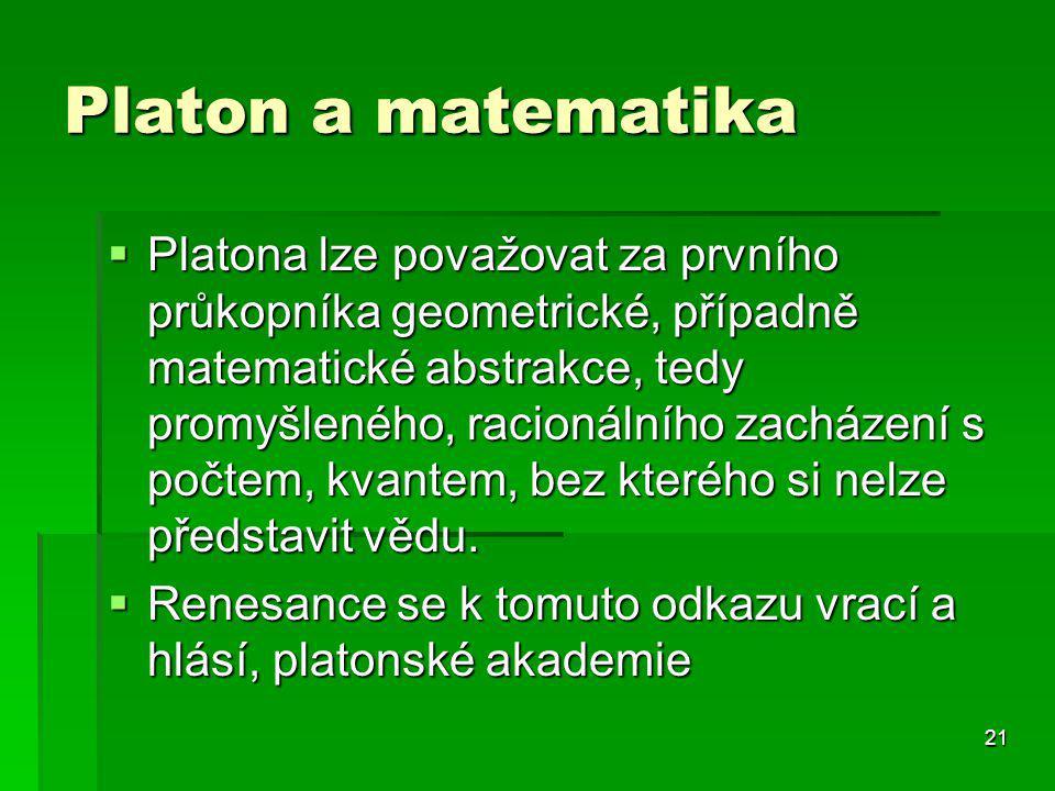 Platon a matematika