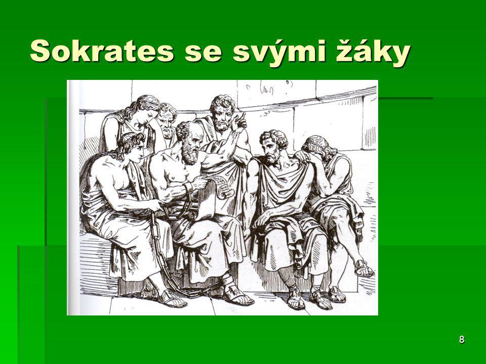 Sokrates se svými žáky