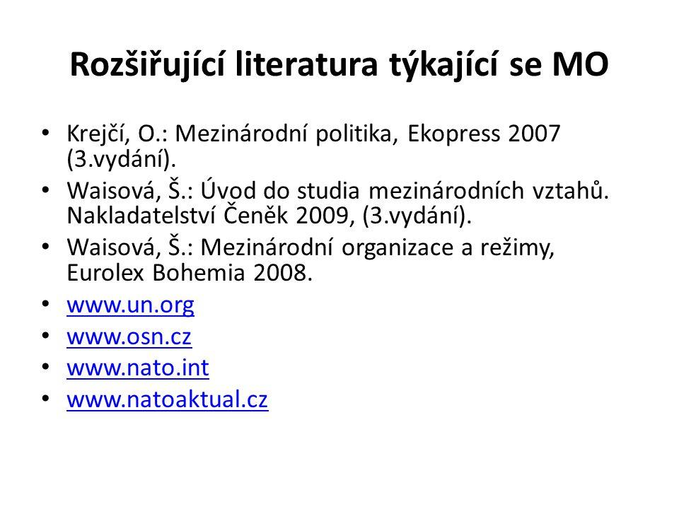 Rozšiřující literatura týkající se MO