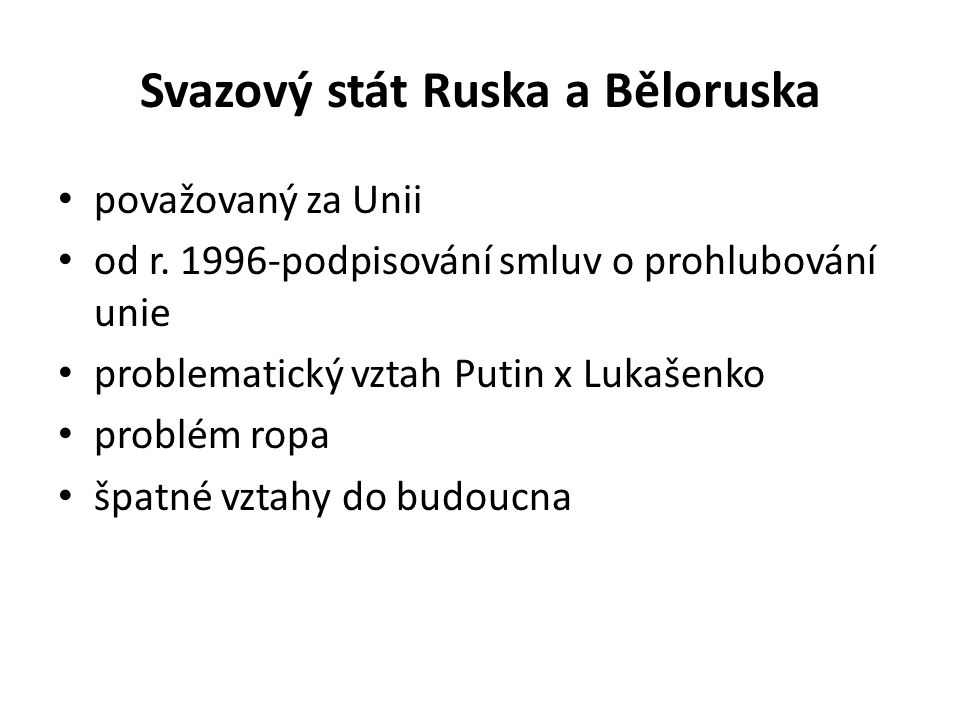 Svazový stát Ruska a Běloruska