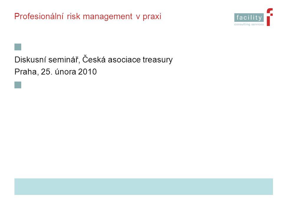 Profesionální risk management v praxi