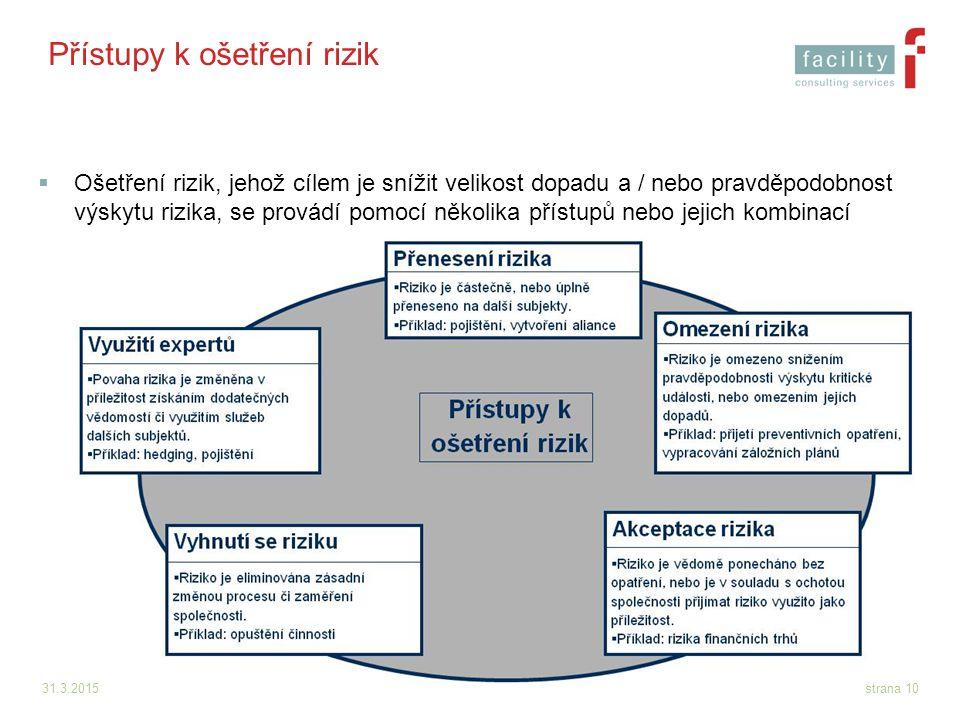 Přístupy k ošetření rizik
