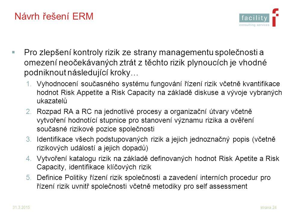 Návrh řešení ERM
