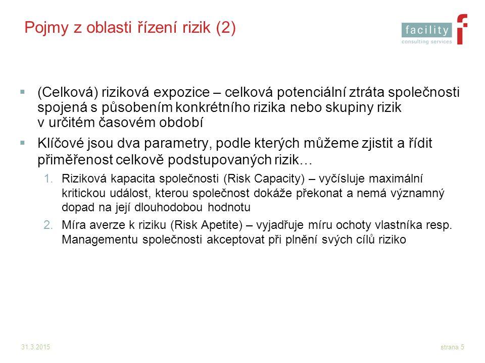 Pojmy z oblasti řízení rizik (2)