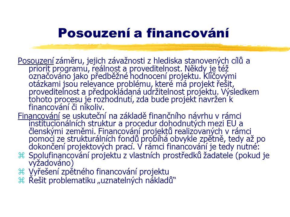 Posouzení a financování