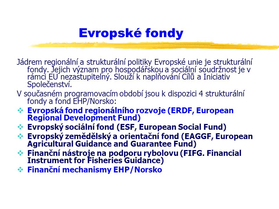 Evropské fondy