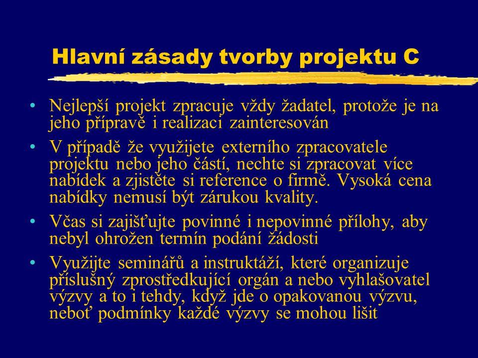 Hlavní zásady tvorby projektu C