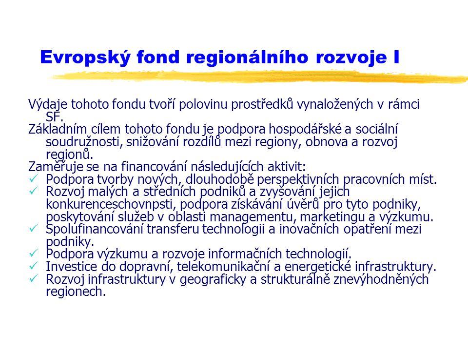 Evropský fond regionálního rozvoje I