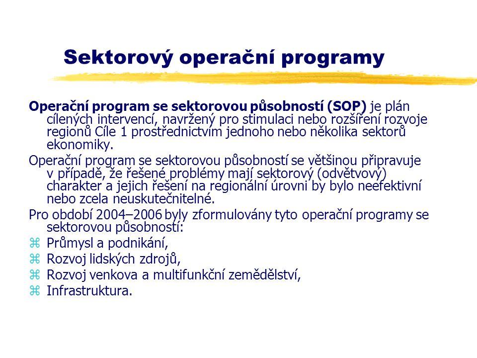 Sektorový operační programy