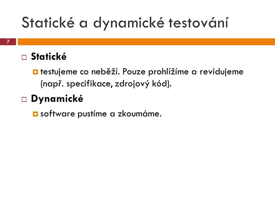 Statické a dynamické testování