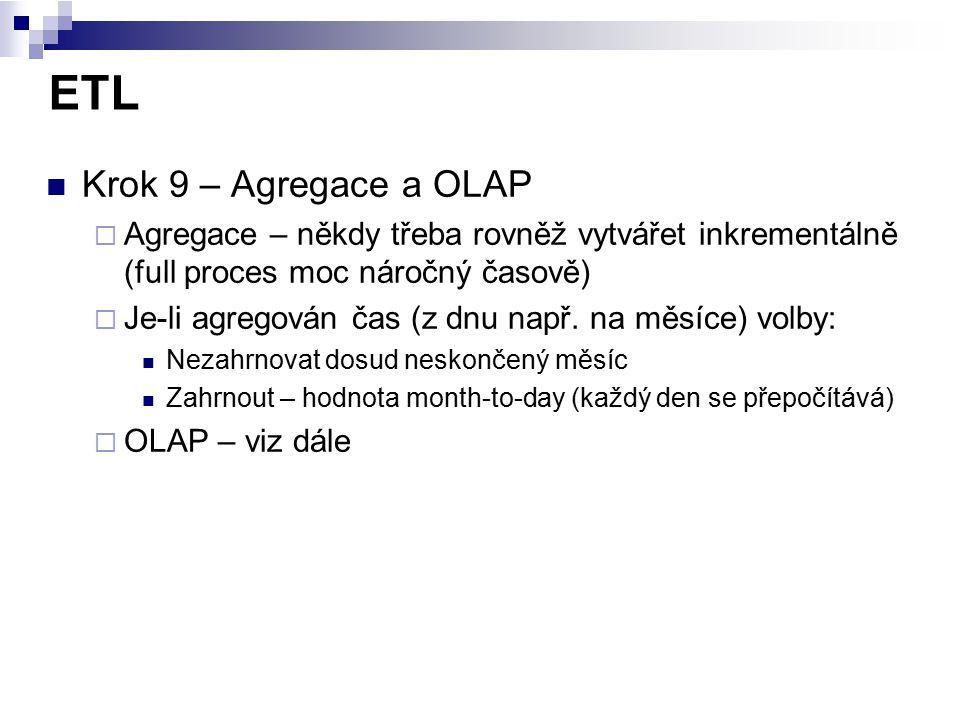 ETL Krok 9 – Agregace a OLAP