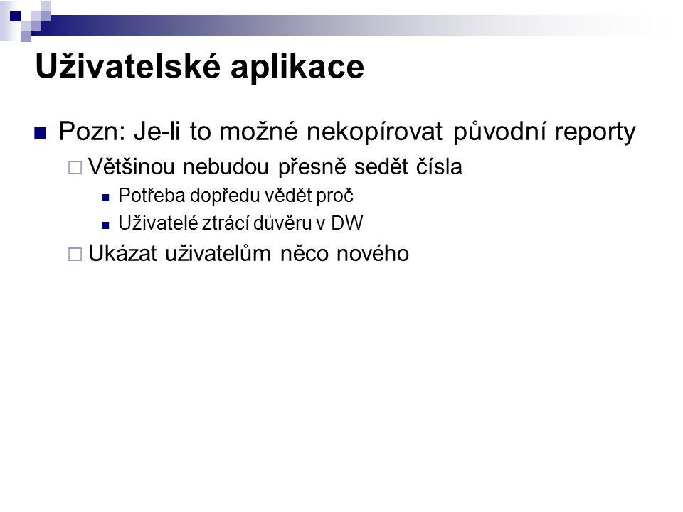 Uživatelské aplikace Pozn: Je-li to možné nekopírovat původní reporty