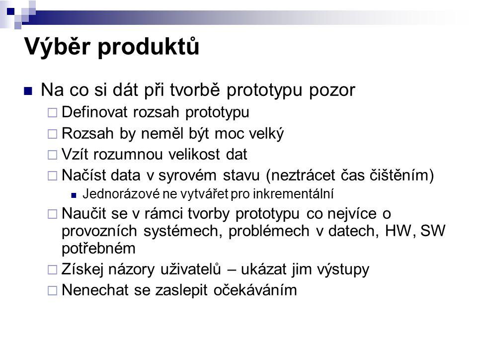 Výběr produktů Na co si dát při tvorbě prototypu pozor