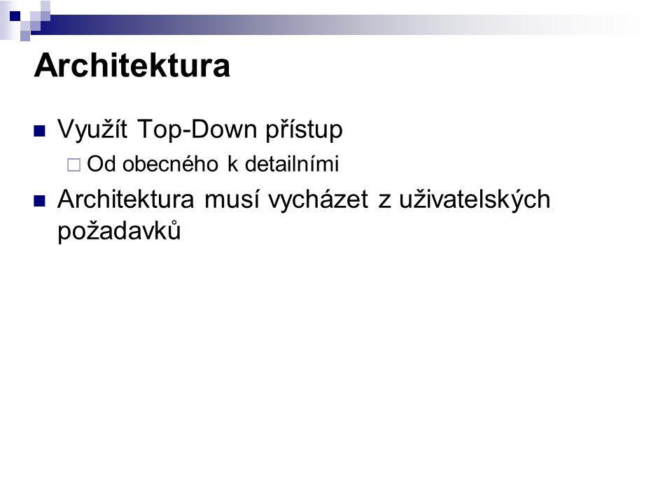 Architektura Využít Top-Down přístup