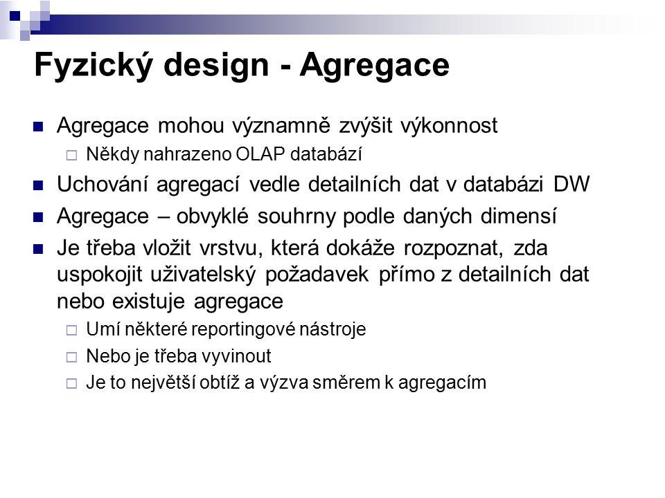 Fyzický design - Agregace