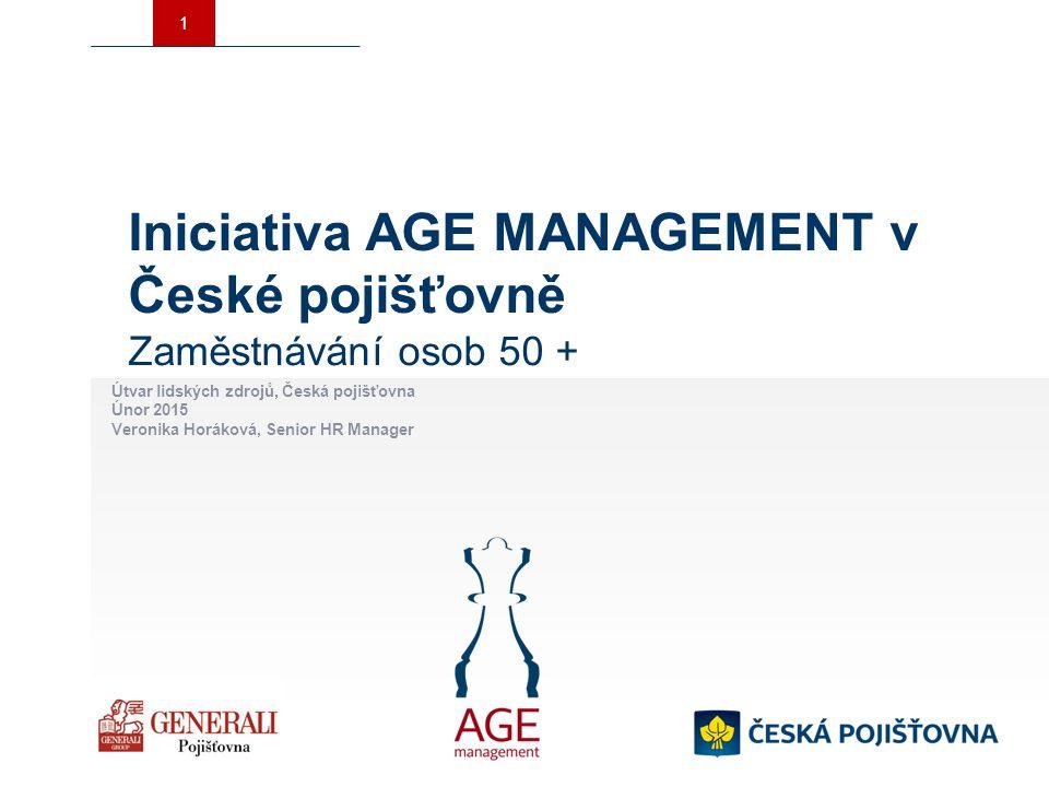 Iniciativa AGE MANAGEMENT v České pojišťovně Zaměstnávání osob 50 +