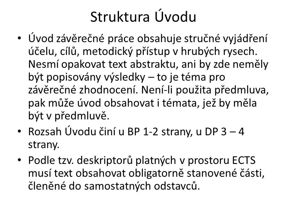 Struktura Úvodu