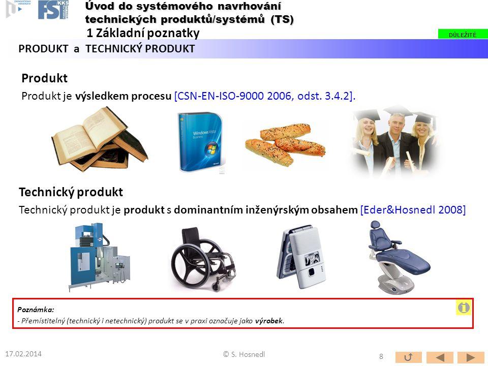 i 1 Základní poznatky Produkt Technický produkt