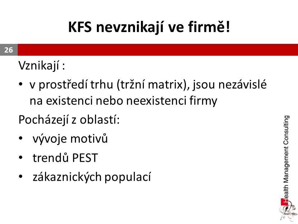 KFS nevznikají ve firmě!