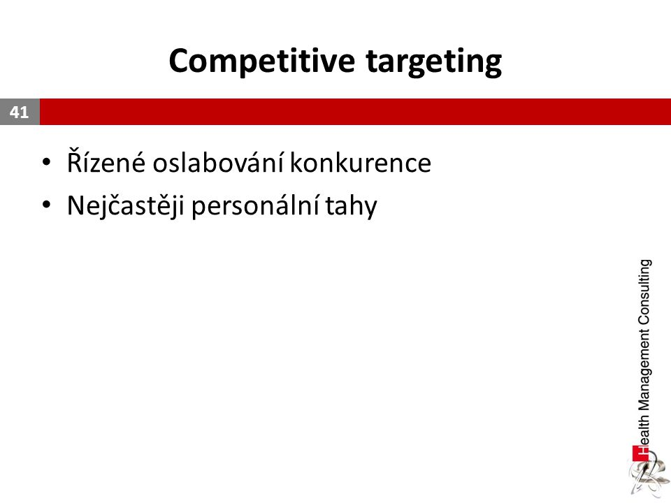 Competitive targeting