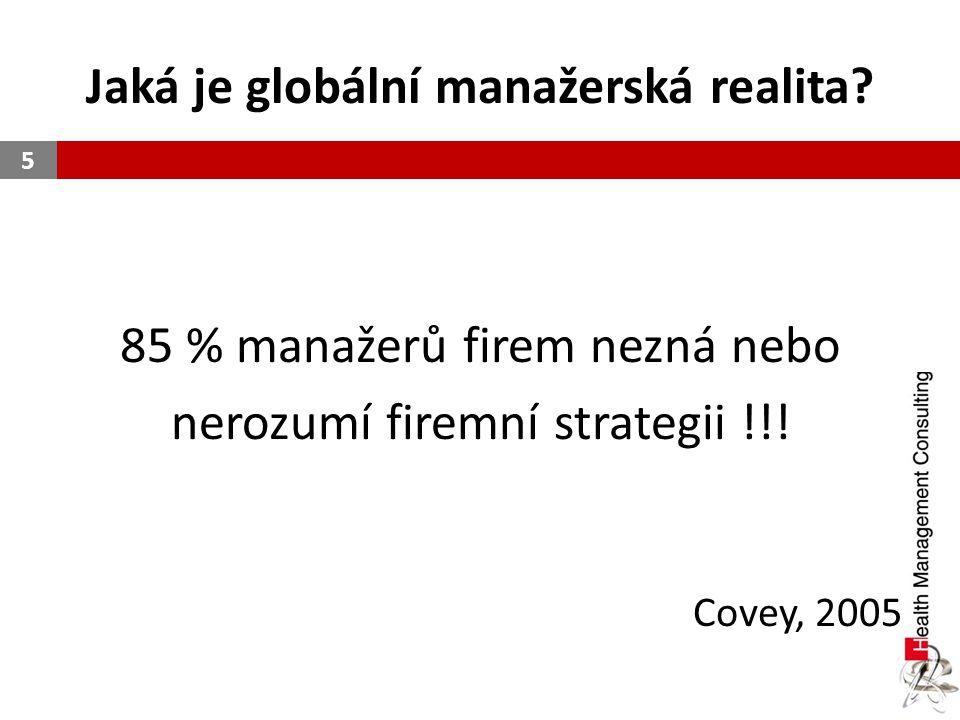 Jaká je globální manažerská realita