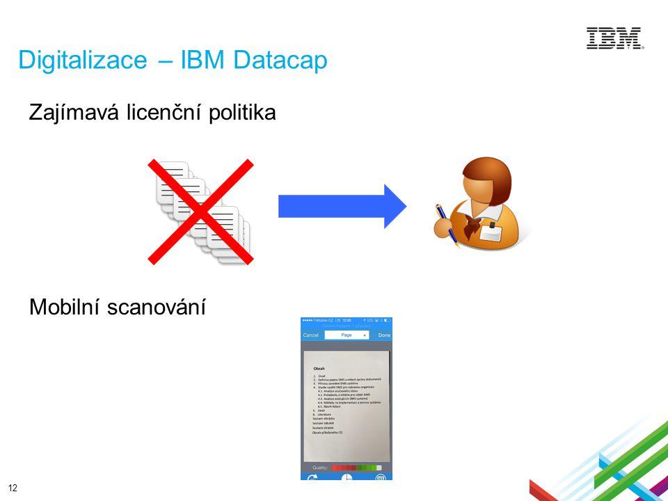 Digitalizace – IBM Datacap