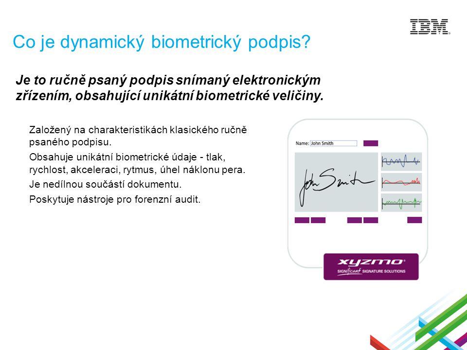 Co je dynamický biometrický podpis