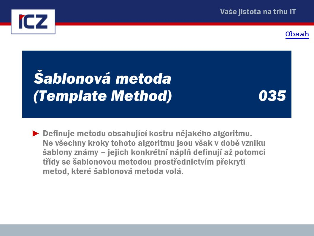 Šablonová metoda (Template Method) 035