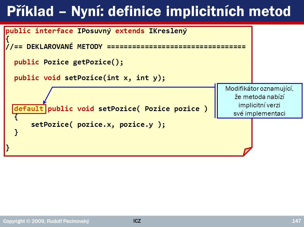Příklad – Nyní: definice implicitních metod