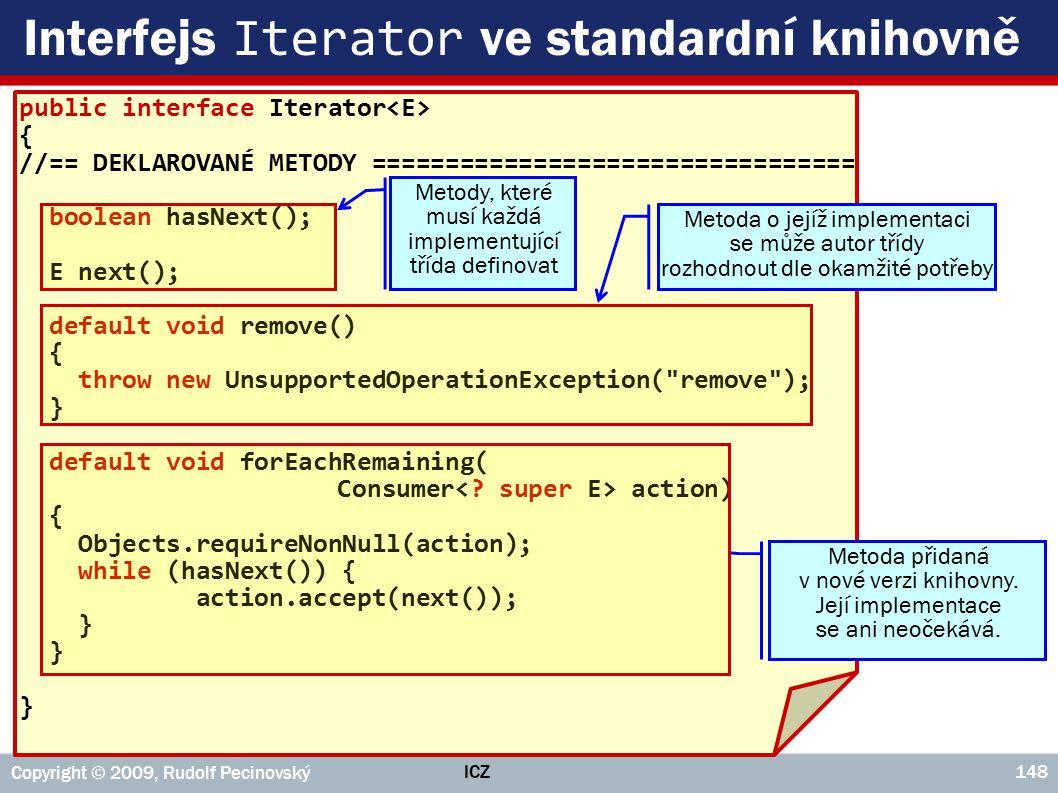 Interfejs Iterator ve standardní knihovně