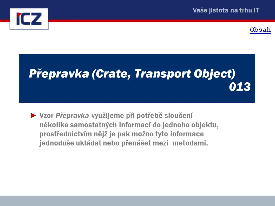 Přepravka (Crate, Transport Object) 013
