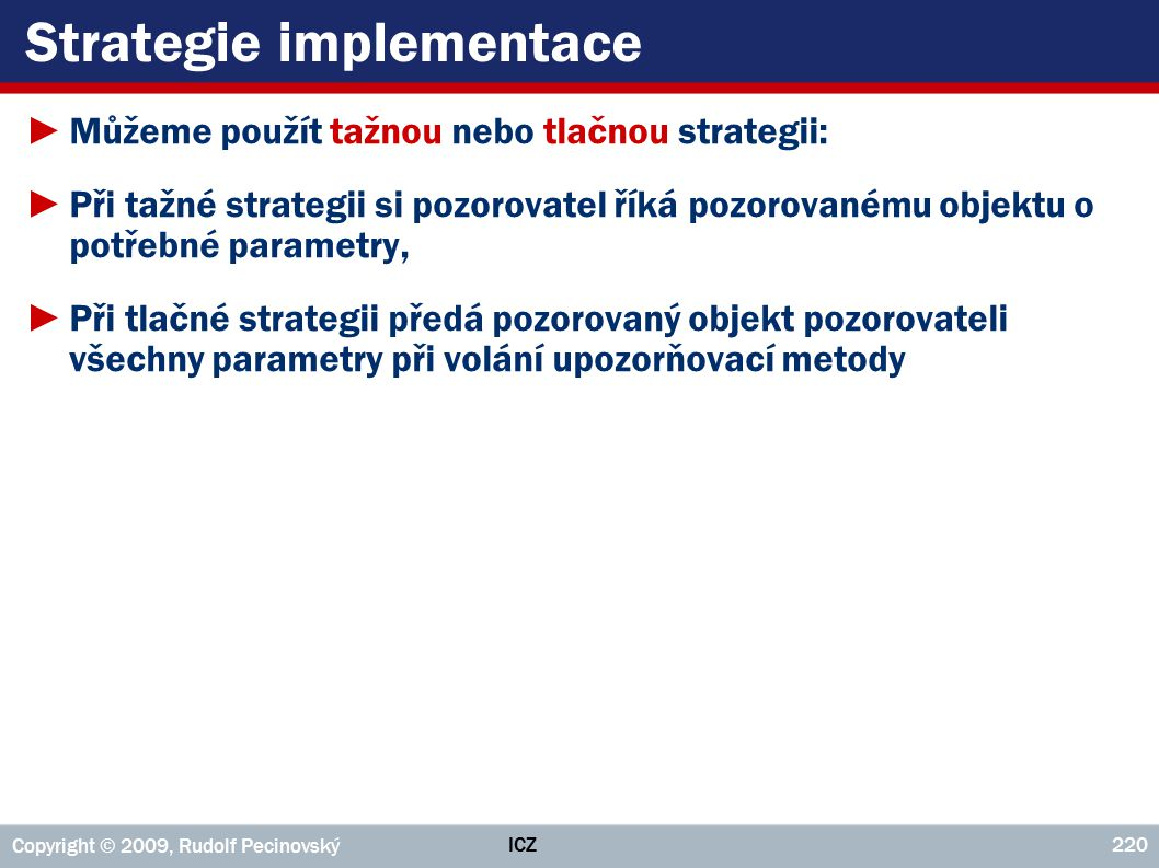 Strategie implementace