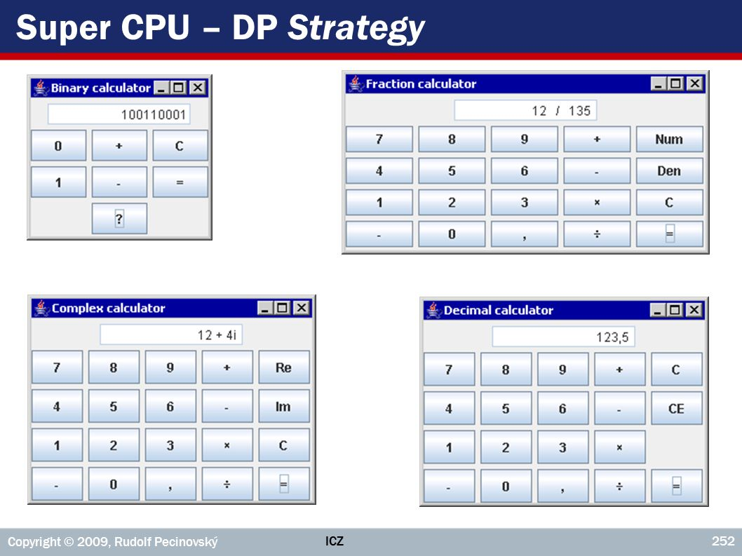 Super CPU – DP Strategy Copyright © 2009, Rudolf Pecinovský ICZ