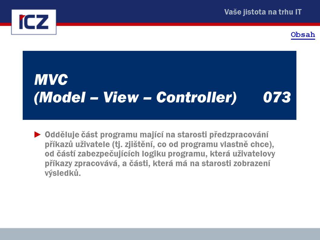MVC (Model – View – Controller) 073