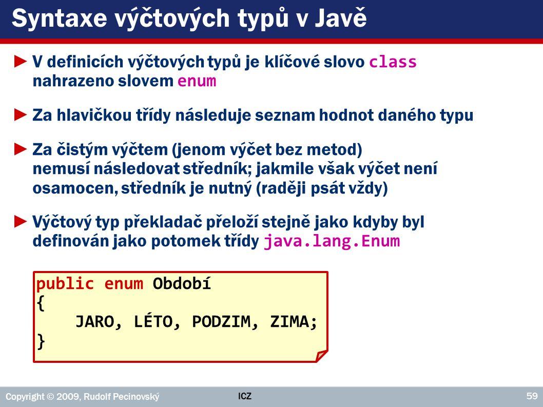 Syntaxe výčtových typů v Javě