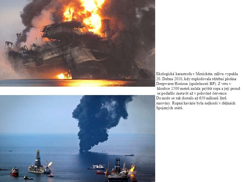 Ekologická katastrofa v Mexickém zálivu vypukla