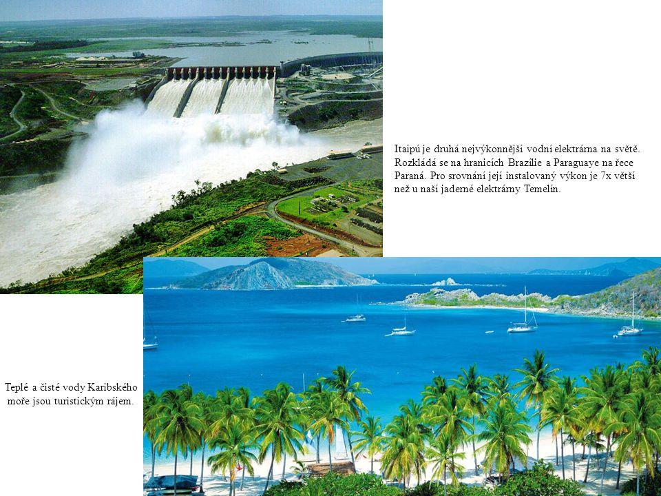 Itaipú je druhá nejvýkonnější vodní elektrárna na světě.