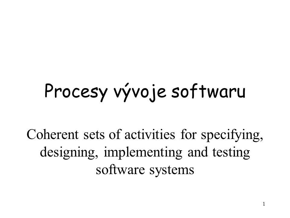 Procesy vývoje softwaru