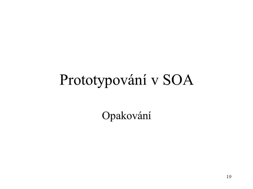 Prototypování v SOA Opakování