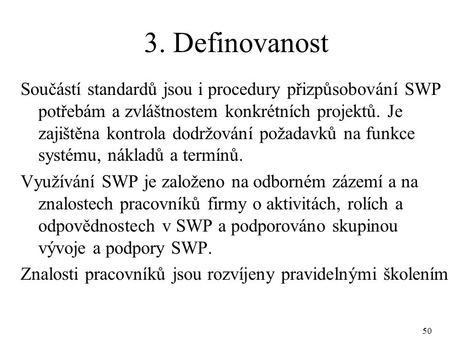 3. Definovanost