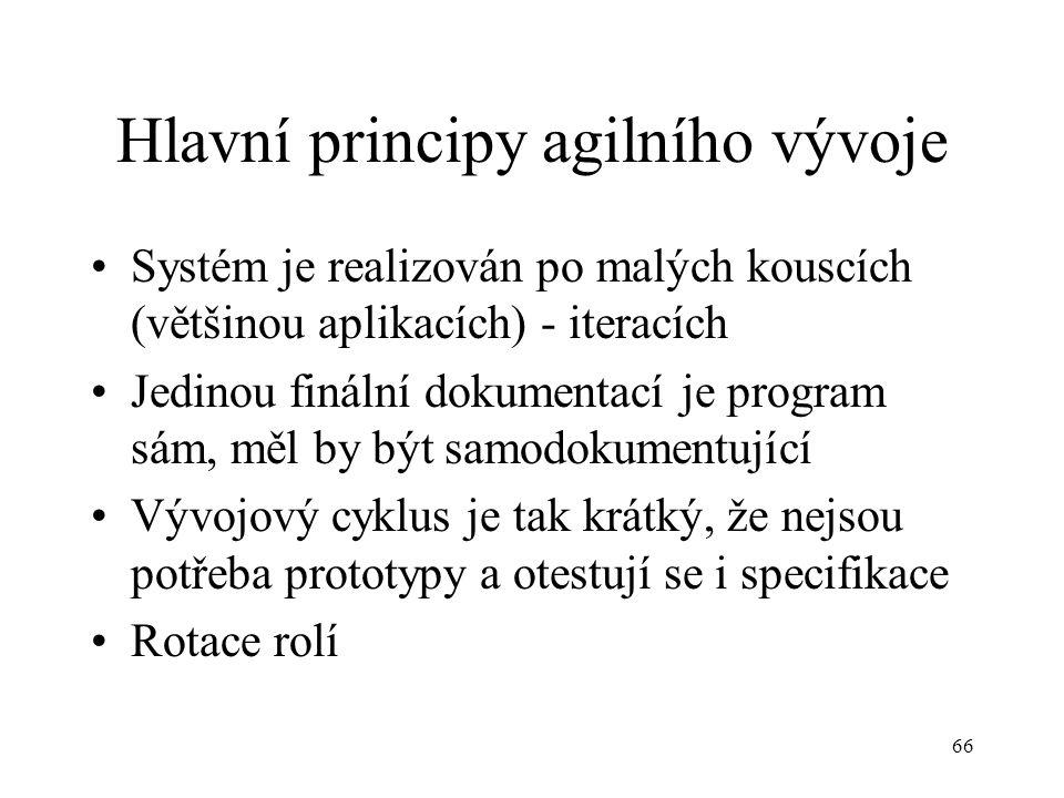 Hlavní principy agilního vývoje