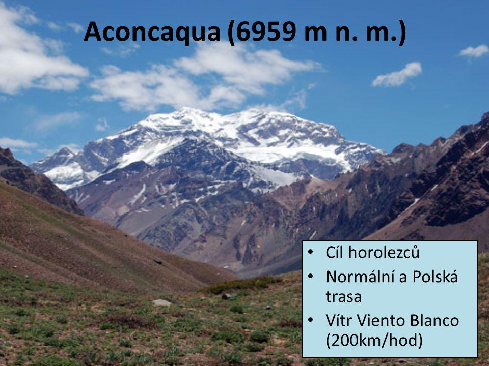 Aconcaqua (6959 m n. m.) Cíl horolezců Normální a Polská trasa