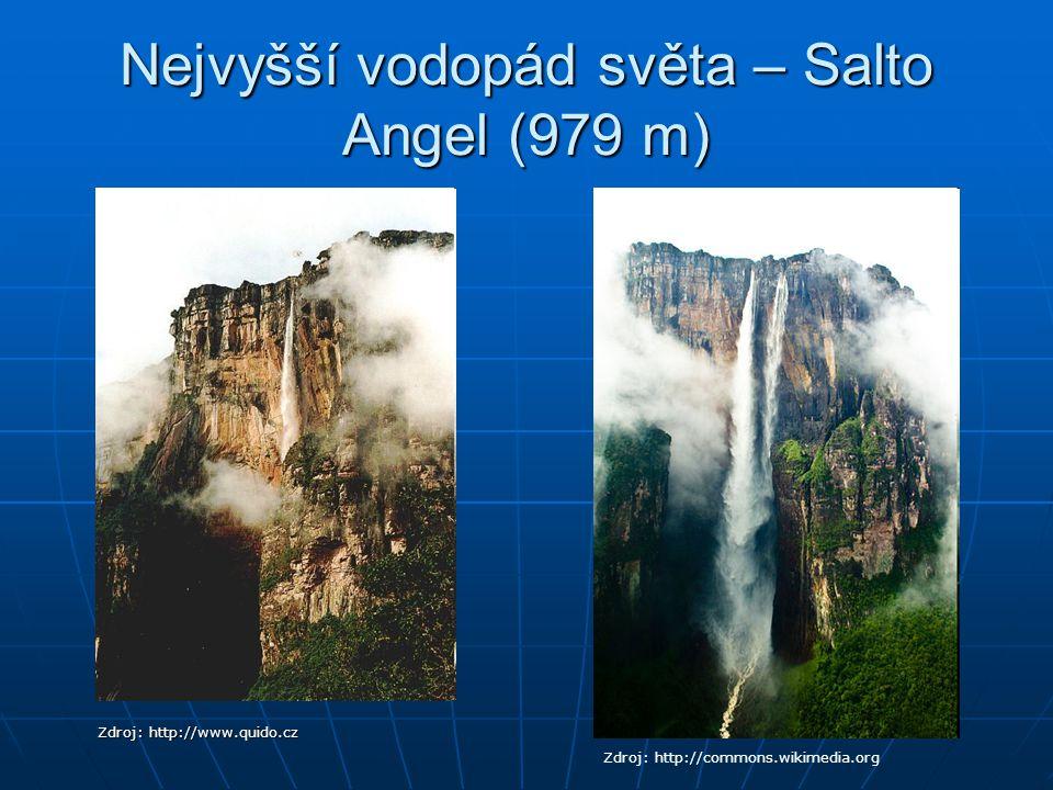 Nejvyšší vodopád světa – Salto Angel (979 m)