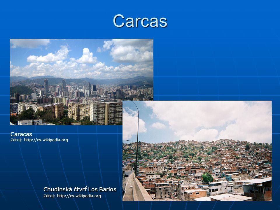 Carcas Caracas Chudinská čtvrť Los Barios