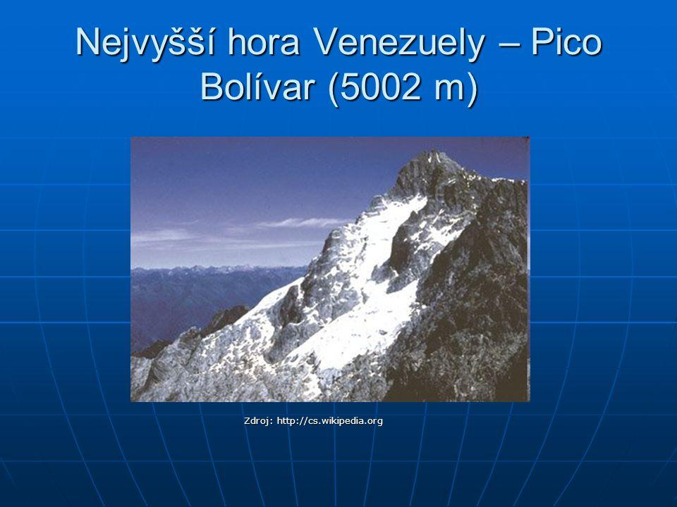 Nejvyšší hora Venezuely – Pico Bolívar (5002 m)