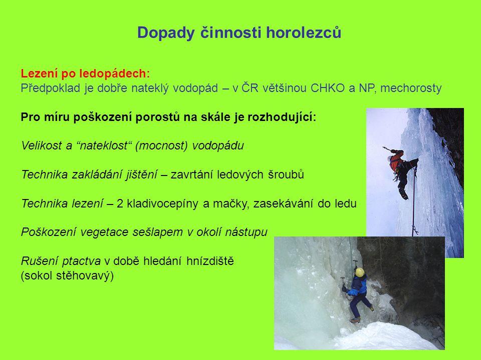 Dopady činnosti horolezců