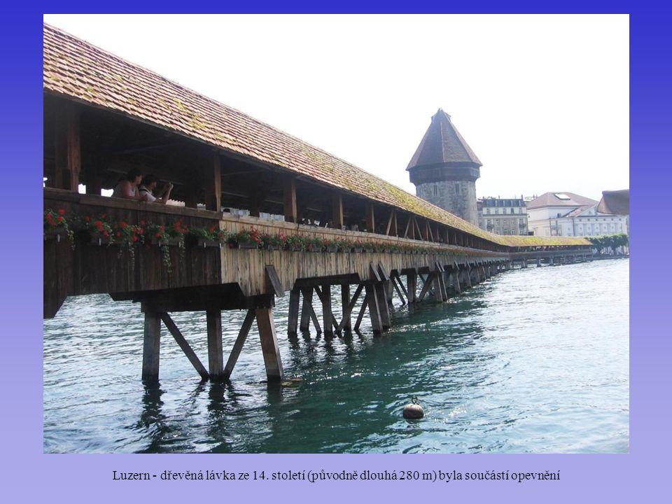 Luzern - dřevěná lávka ze 14