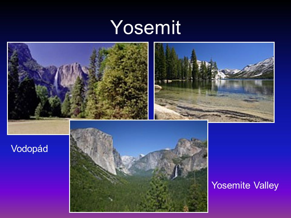 Yosemit Vodopád Yosemite Valley